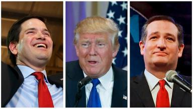 Fight: The Republican presidential race is looking more like a two-person contest.