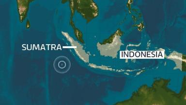 The earthquake struck off the coast of Sumatra