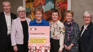 Support: Campaigners met Nicola Sturgeon in Edinburgh.