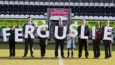 Launch: Plans for new sports village launched at St Mirren Park in Paisley.