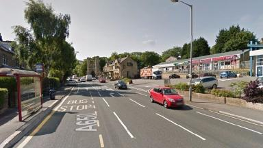 Keighley Road in Bradford where the incident took place.
