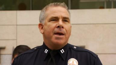 The Los Angeles Police Department confirmed a retired officer had submitted the knife.