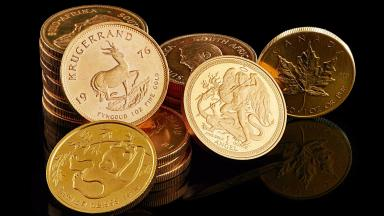 Krugerrands: Each coin contains 31g of gold.