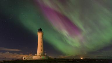 Northern Lights: The aurora borealis seen over Lossiemouth.