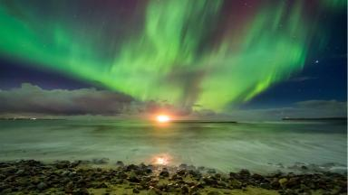 Northern Lights: Sky above Caithness.
