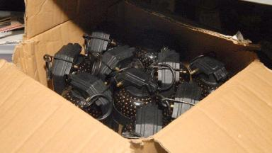 Grenades: Six seized in Scottish raid along with dynamite.