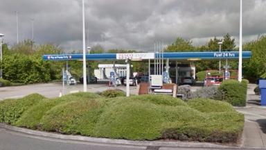 Police said human remains were discovered next to this petrol station