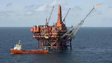 Murchison platform: North Sea facility during production (file pic).