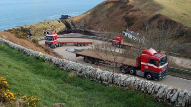 Berriedale Braes: Notorious section of A9 (file pic).