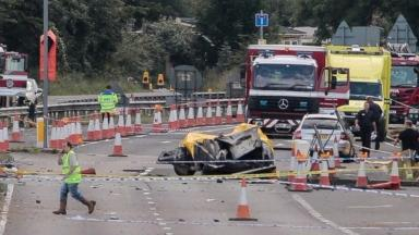 The plane crashed onto the A27 in August last year