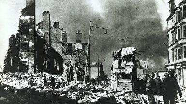 Blitz: German bombers attacked Clydeside shipyards.