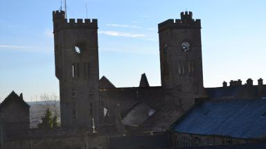 Hartwood Hospital: Clock towers damaged in fire 12 years ago.