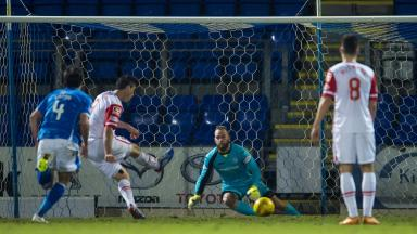 Equaliser: Brian Graham tucked away a second half penalty.