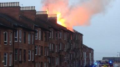 Aberfoyle Street: Emergency services in attendance at the blaze.