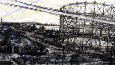 Exhibition: Kate Downie's sketch of Granton Gas Tower is among the artworks going on display.