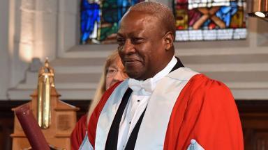 John Dramani Mahama: President of Ghana given honorary degree.