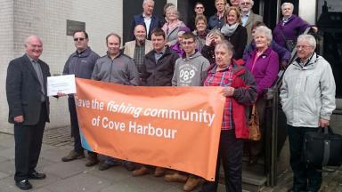 Fishermen: Refused to leave historic port.
