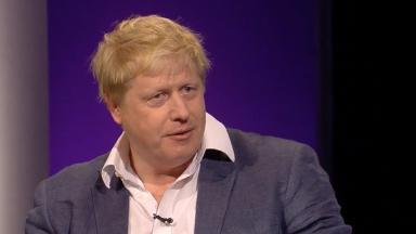 Boris Johnson on ITV's The Agenda