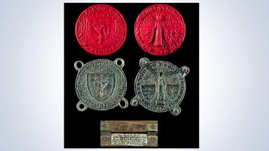 Rare: The artefact was used by Robert the Bruce to seal documents.