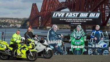 Safety: The new campaign hopes to reduce casualties among motorcyclists.