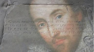 The playwright is thought to be buried in Holy Trinity Church in Stratford-upon-Avon