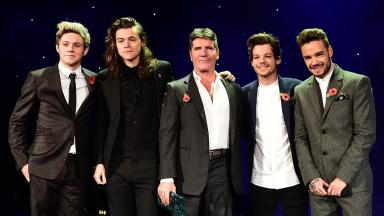 Cowell with One Direction