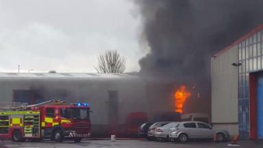 Blaze: Three fire crews were sent to the scene to tackle the fire.