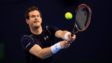 Winning start: Andy Murray started his Miami campaign.