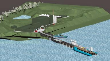 Vision: Marine Harvest wants to build the plant on the site of a former quarry.