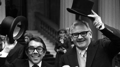 Hats off to the two Ronnies