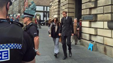Edinburgh: Bailey's parents leave High Court in Edinburgh.