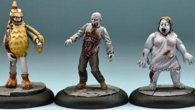 Studio Miniatures: Some of Stuart Hamilton#s figurines.
