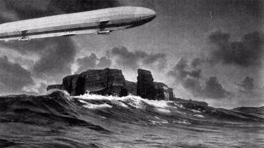 The German Zeppelin LZ 14 (L 1) near Helgoland.