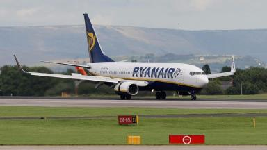 The Ryanair flight was heading to Palma in Mallorca when it was forced to turn back.