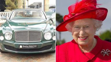 Car: The Bentley is said to have been used by the Queen during her Diamond Jubilee celebrations.