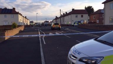 The scene of the shooting in South Shields on Tuesday.