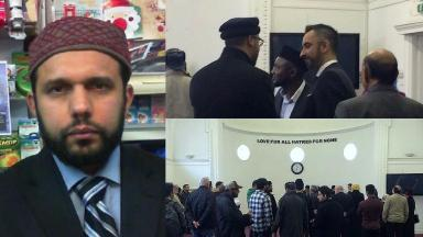 Funeral: Asad Shah was killed on March 24.