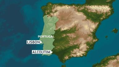Alcoutim is near the border with Spain.