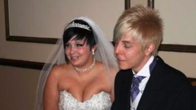 Jazmin on her wedding day.