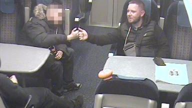 Geoffrey Midmore (right) and his friend Joshua Gordon less than an hour after the acid attack on Carla Whitlock.