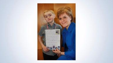 Campaign: Sufferer Michael Young met First Minister Nicola Sturgeon.