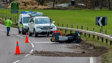 Fatal crash: The aftermath of the incident on the A82.