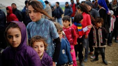 Refugees: Asylum seekers fleeing their countries (file pic).