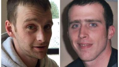 Victims: Chris Morrison, left, and Martin Johnstone.