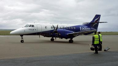 Eastern Airways: Plane made a number of passes over Aberdeen before landing (file pic).