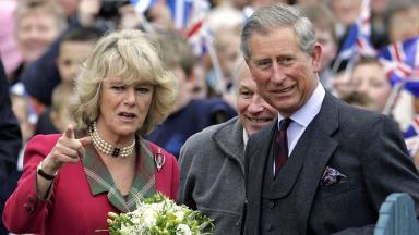 Royal couple: The Duke and Duchess of Rothesay in Ballater.