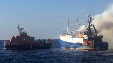 Karinya: The crew were unharmed but the fishing boar was lost.