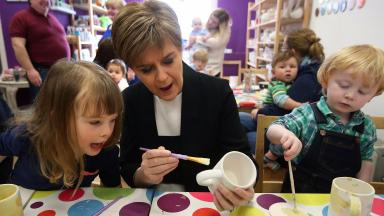 Nicola Sturgeon: The First Minister will pledge to make education a 'key focus'.