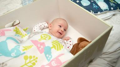 Baby box: Essentials for new parents.