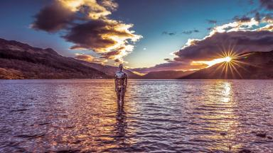 Scotland by the Roadside: Loch Earn at sunset.